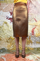Metallic pencil skirt  image