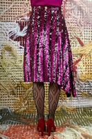 Asymmetrical sequin skirt  image