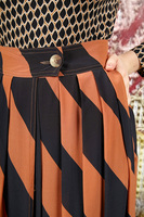 Silk skirt with diagonal stripes  image