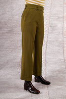 Olive tailored pants  image