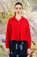 Lipstick red shirt in corduroy  image