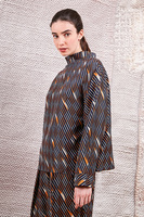 Oversized blouses with diagonal stripes image