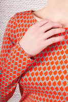 Orange t-shirt with long sleeves  image