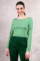 Green t-shirt with long sleeves  image
