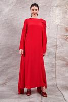 Long dress with shoulder drape  image