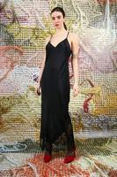 Long slip dress with lace trim  image