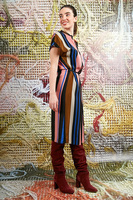 Striped tunic dress  image