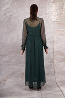 Green dress in dotted mesh  image