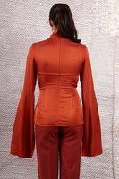 Rust top with flared sleeves  image