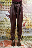 Burgundy Pants in Faux Leather  image
