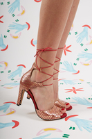 Polka Dot Leather Sandals  image